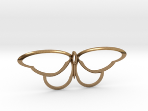 flutterfly m3 in Natural Brass