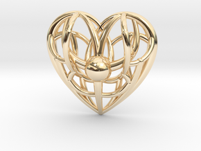 Awakened Heart Pendant in 14K Yellow Gold