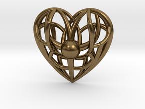 Awakened Heart Pendant in Natural Bronze