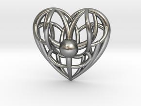 Awakened Heart Pendant in Natural Silver