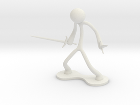 MTI Stickman-poses05 in White Strong & Flexible
