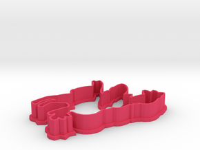 Sylveon Cookie Cutter in Pink Processed Versatile Plastic