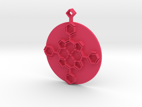 Porphyrin Key Fob in Pink Processed Versatile Plastic