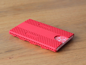 Business card case - CUSTOMIZE! in Red Strong & Flexible Polished
