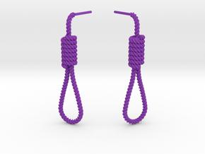 Halloween Hanging Rope Earrings in Purple Processed Versatile Plastic