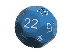 Alt D22 Sphere Dice in Blue Processed Versatile Plastic