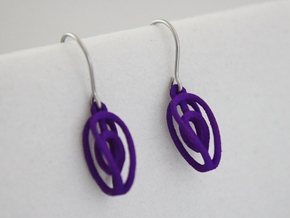 Miniature Aerial Earrings in Purple Processed Versatile Plastic