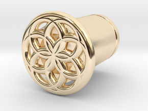 Seed Of Life plug in 14K Yellow Gold