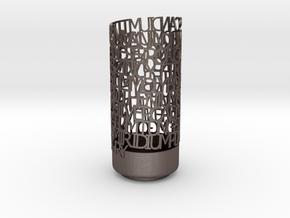 Transition Elements Vase in Polished Bronzed Silver Steel