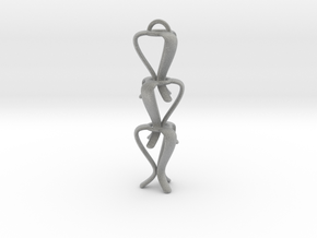 TULIP-earrings in Metallic Plastic