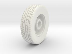 1/87 HO Seagrave Pumper Front Wheel (FDNY like) in White Natural Versatile Plastic