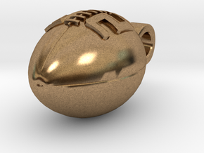 Football Pendant #82 in Natural Brass