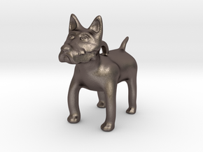 Westy Pup in Polished Bronzed Silver Steel
