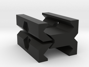 Picatinny to Picatinny Clamp Adapter in Black Natural Versatile Plastic