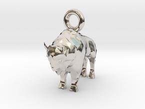 Bison Pendant in Platinum