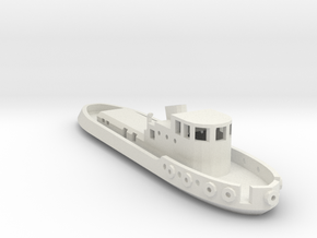 005B 1/350 Tug Boat in White Natural Versatile Plastic