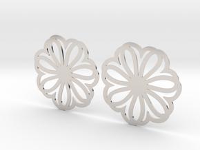 Seven Heart Hoop Earrings 40mm in Platinum