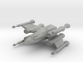 Space Fighter in Metallic Plastic
