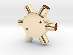 Six Way Junction box in 14K Yellow Gold
