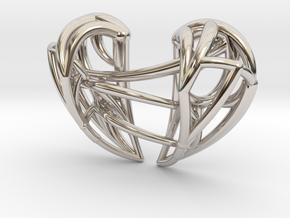 Healing Heart Pendant in Platinum