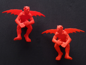 Flying devil, reversed in Red Processed Versatile Plastic