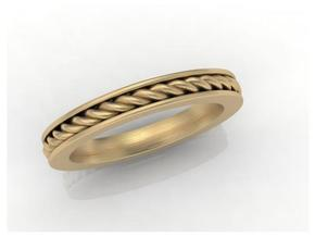 stackable band size 6 in Matte Gold Steel