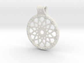 Dream Catcher Pendant in White Natural Versatile Plastic
