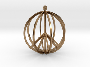 Global Peace in Natural Brass