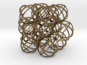 Packed Spheres Cuboctahedron in Natural Bronze