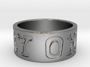 Carry On Ring (Size 6.5) in Natural Silver