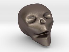 Skull Mini in Polished Bronzed Silver Steel