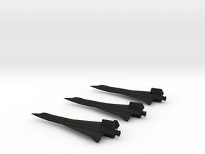 1/285 NAA X-15 DELTA WING USAF NASA (3) in Black Acrylic