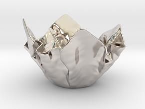 Paper Bowl (Free 3D File) in Platinum
