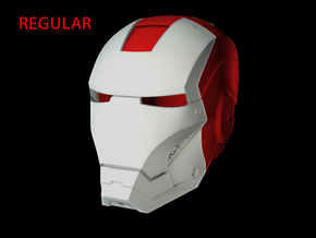 Iron Man Helmet Head (Regular) Part 1 of 3 in White Strong & Flexible