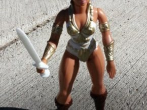 Sword v2 for 1980s Castle Grayskull in White Strong & Flexible Polished