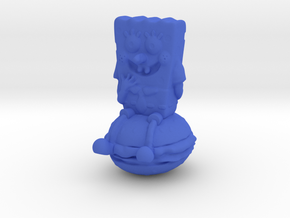 Spongebob on hamburger in Blue Processed Versatile Plastic