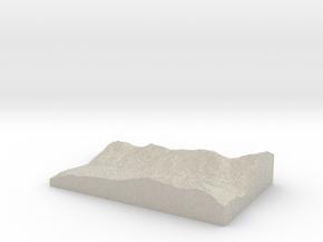 Model of Fish Lake in Natural Sandstone