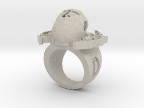 new skull ring in Natural Sandstone