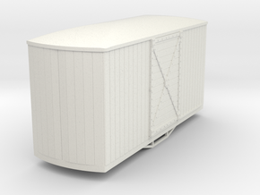 Gn15 round ended boxcar  in White Natural Versatile Plastic