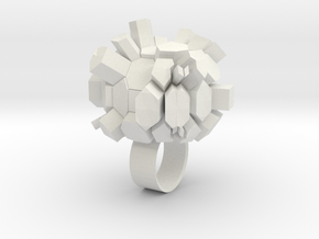 Rocky Ring in White Strong & Flexible