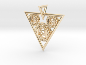 Sacred Geometry Pendant in 14K Yellow Gold