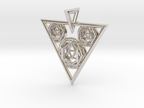 Sacred Geometry Pendant in Platinum