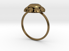 Diamond Ring US Size 8 UK Size Q in Natural Bronze