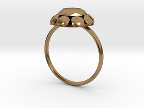Diamond Ring US Size 8 UK Size Q in Natural Brass