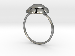 Diamond Ring US Size 8 UK Size Q in Natural Silver