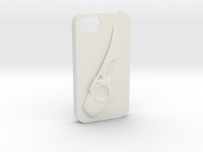 Raven Iphone4 in White Natural Versatile Plastic