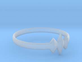 Elleve Ring US Size 8 UK Size Q in Smooth Fine Detail Plastic