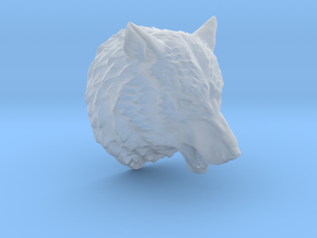 Angry Wolf Wall Mount in Smooth Fine Detail Plastic