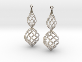 Posh Big Earrings 50mm in Platinum