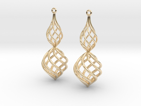 Posh Big Earrings 50mm in 14K Yellow Gold